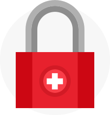 Swiss lock icon