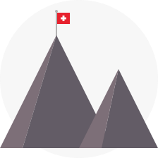 Swiss mountains icon