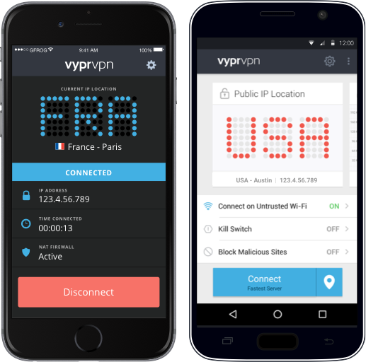 Use VyprVPN, the best mobile VPN, when accessing unsecured Internet networks.